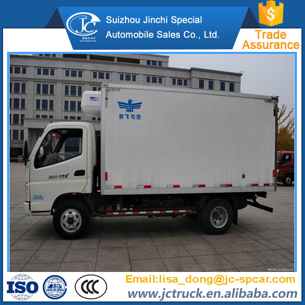 2017 FOTON 4x2 refrigerated van truck with Low price brand new for hot sale