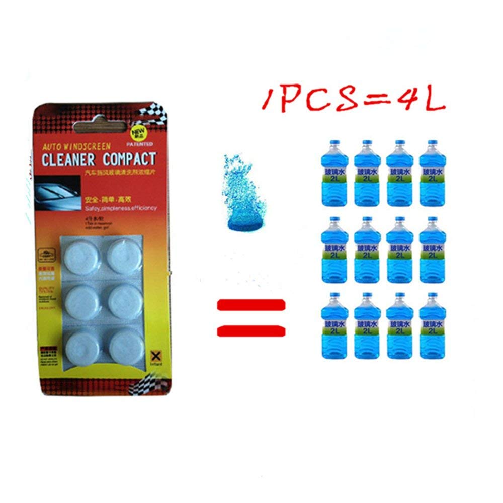 Supercobe 6PCS/Pack(1PCS=4L Water) Car Solid Wiper Fine Car Auto Window Cleaning Car Windshield Glass Cleaner