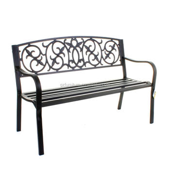 Fantastic Black Metal Garden Bench Seat Outdoor Seating W Decorative Cast Iron Backrest Buy Garden Bench Modern Garden Bench Outdoor Garden Bench Parts Gmtry Best Dining Table And Chair Ideas Images Gmtryco
