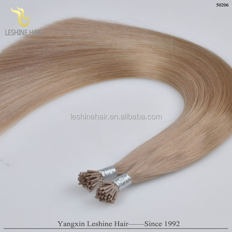 wholesale double drawn 1.0g/strand body wave ombre i tip hair extension for cheap