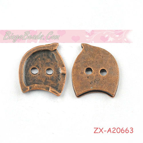 Bronze Tone Metal Buttons 11mm For Sewing Scrapbooking Jewelry Making