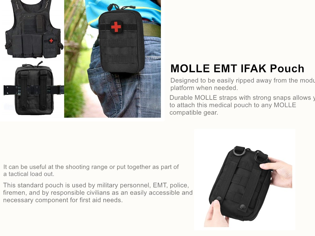 Emt Ifak Tactical Molle Pouch Medical First Aid Kit Bag Utility Box - Buy  First Aid Bag,First Aid Box,Tactical Pouch Product on Alibaba com