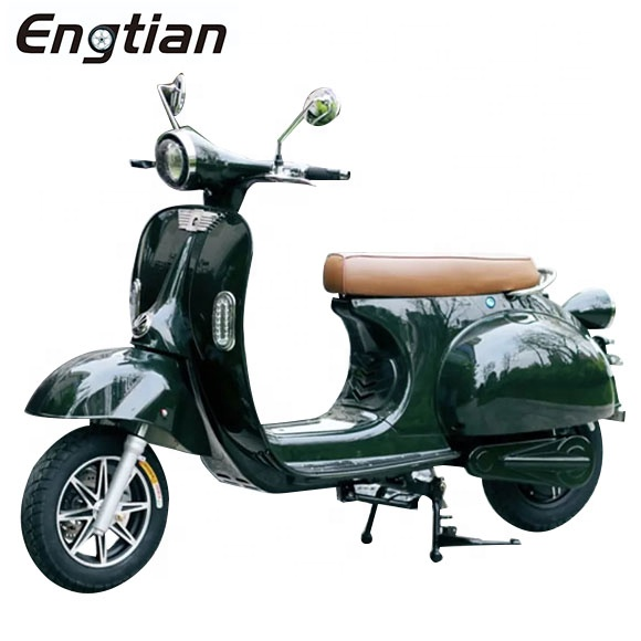 Engtian Retro Vespa 60V 2000W 3000W powerful electric vespa scooter Italy vintage style electric motorcycle for adult with EEC, Customized