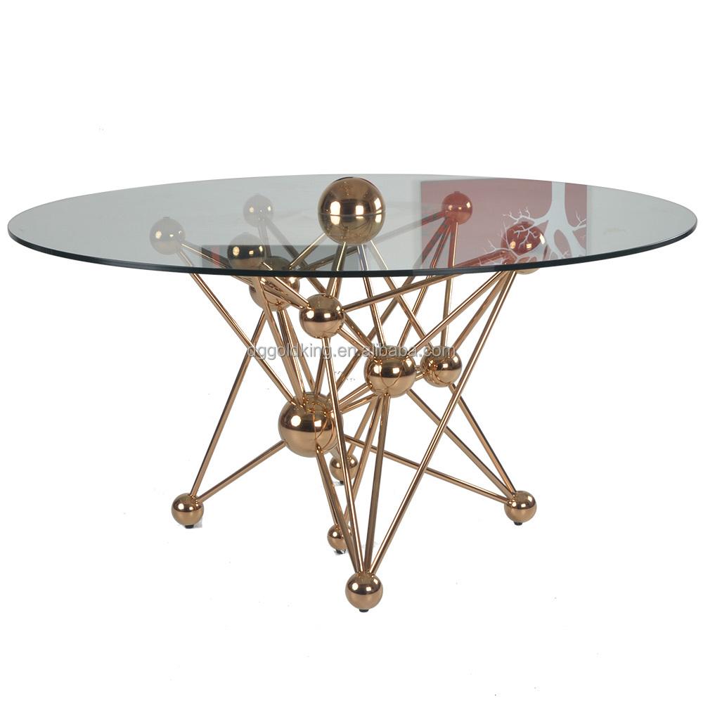 접이식 강화 유리 스테인레스 스틸 식사 테이블-테이블을 다이닝 ...
