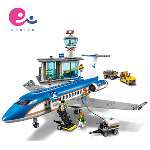 Lepin 02043 City Series 718pcs Airport Terminal Building Aircraft Six Year Old City Block Toys