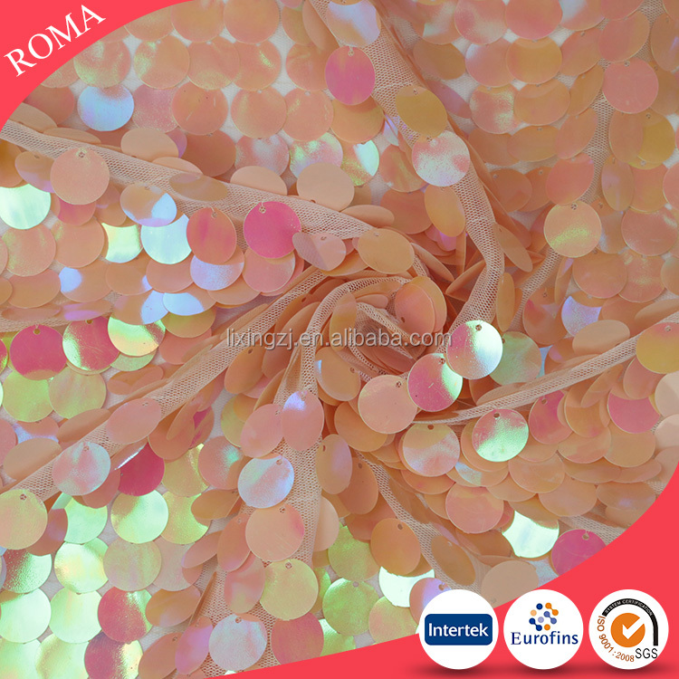 Large sequins wedding backdrop dance decorative sequin fabric