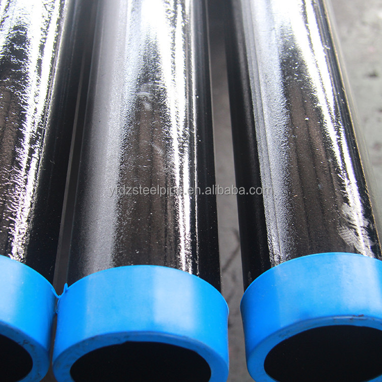 alibaba website API 5L black painting ms steel iron pipe erw welded hot rolled round steel pipe price