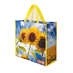 China High Quality Eco Supermarket Shopper Packaging PP Laminated Non Woven Shopping TNT Bag