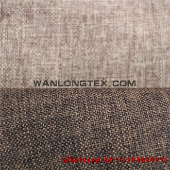 Polyester Flax Linen Fabric For Upholstery Sofa