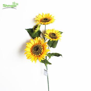 New Fashion Home Decor Silk Big Head Artificial Sunflower Craft