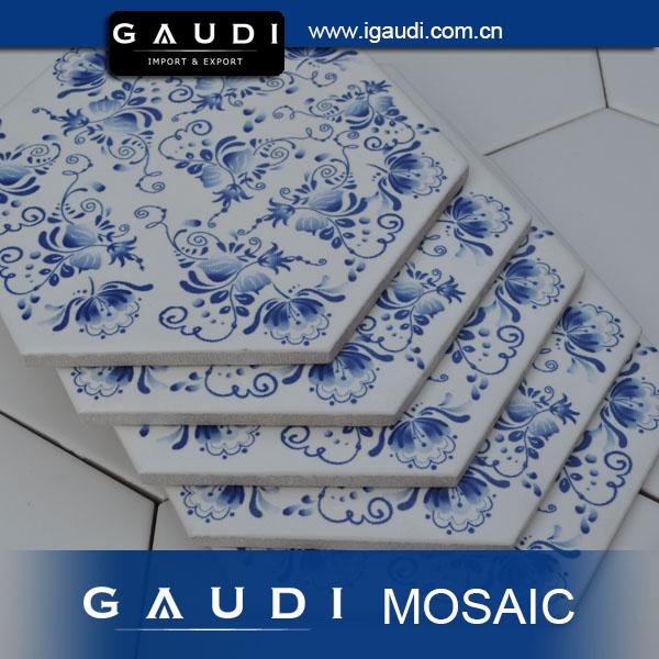 Imprenta patr n de mosaico de cer mica baldosas hexagonales mosaicos identificaci n del producto - Baldosas hexagonales ...