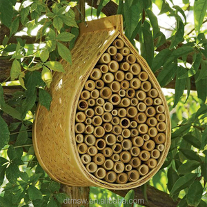 Custom garden hanging wooden bee house mason bee house