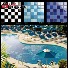 Hot sale export designs ceramic swimming pool tiles