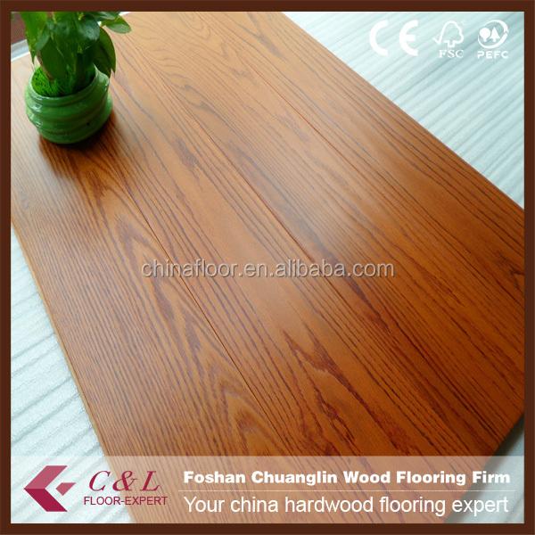 Red Oak Tree Ring Pattern Parquet Wood Flooring