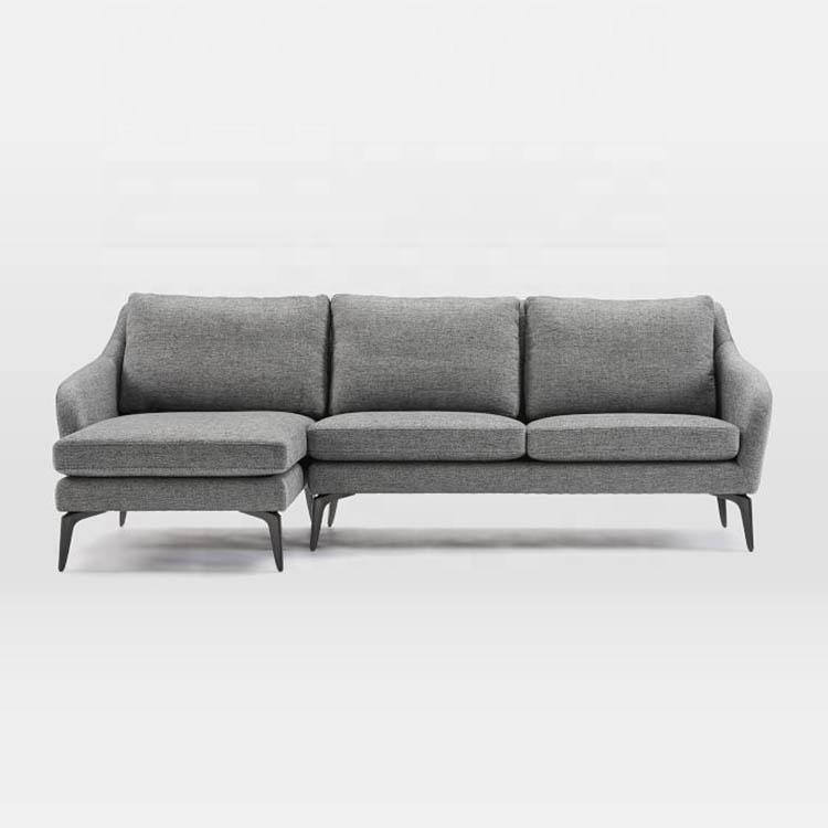 Gri rahat yeni tasarım antika tasarım chesterfield 3 koltuklu kanepe oturma odası mobilya kombinasyonları kanepeler