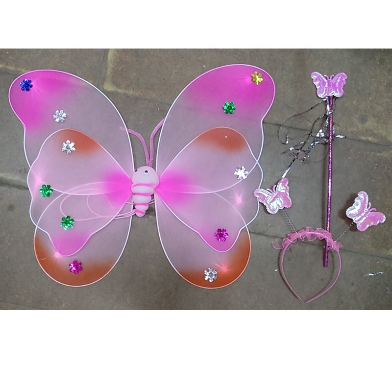 factory directly silk double layer butterfly wing