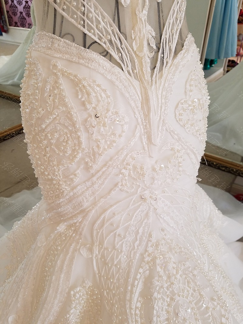 LS17006 Sexy mermaid wedding dress see through back cap sleeves tulle lace wedding gowns 2017 robe de mariee sirene 15
