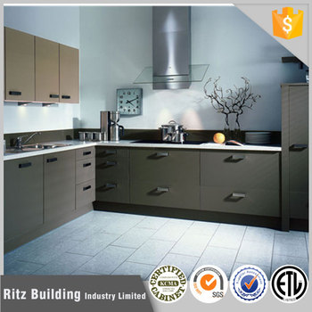 Tinggi Gloss Dapur Kabinet Modular Desain