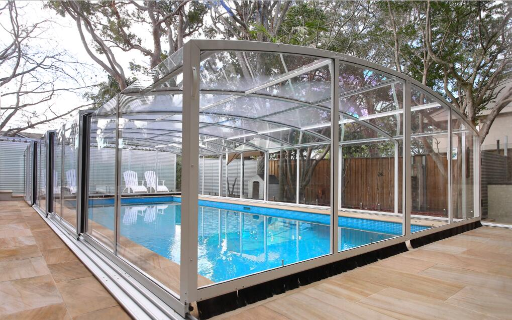 Top Quality Pc Swimming Pool Cover / Safety Pool House Enclosures ...
