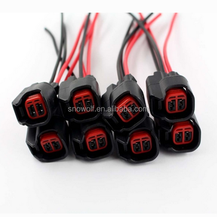 EV6 EV14 FUEL INJECTOR PIGTAILS CONNECTORS WIRE wholesale ford wiring harness online buy best ford wiring Ford Wiring Harness Kits at sewacar.co