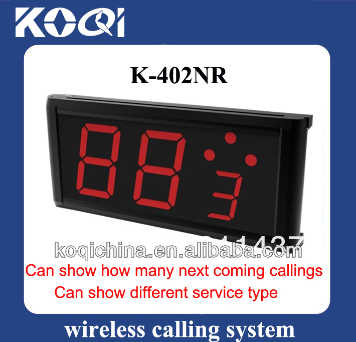 Hot Sale Wireless Table Paging System Display Receiver K-402NR for Restaurant Hotel