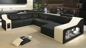 Black And White Sofa Set / Latest Leather Sofa Design