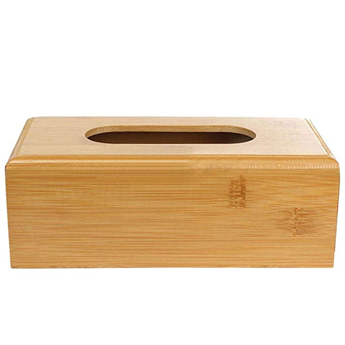 Customize house bamboo wooden paper tissue box