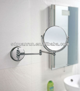 Brass Bathroom Magnifying Adjustable Wall Mounted Shaving Mirror Hl9 6 Buy Adjustable Wall