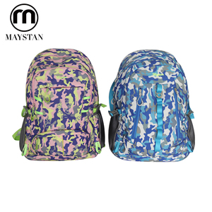 Portable custom vintage school backpack set outdoor hiking backpack