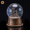 WR Business Gift Brass Building Models Vintage Music Box Crafts Desk Accessory Crystal Ball Wedding Decor 7*7*9cm