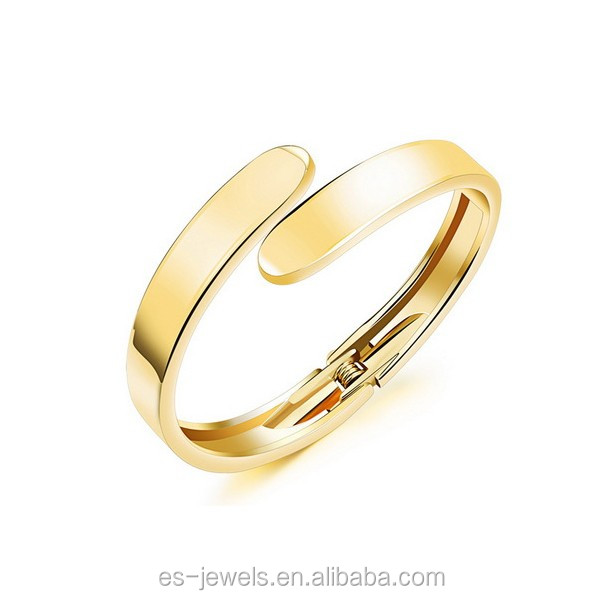 KH504 China jewelry factory wholesale wedding gift jewelry alloy bangle with 18k gold plated