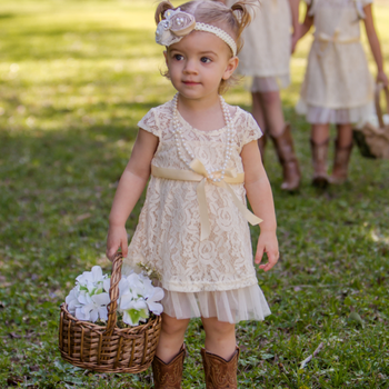 On Sale Ivory Baby Lace Dress Rustic Country Wedding Girl Flower Dresses Buy Wedding Flower Girl Dressrustic Wedding Baby Clothingon Sale Kids
