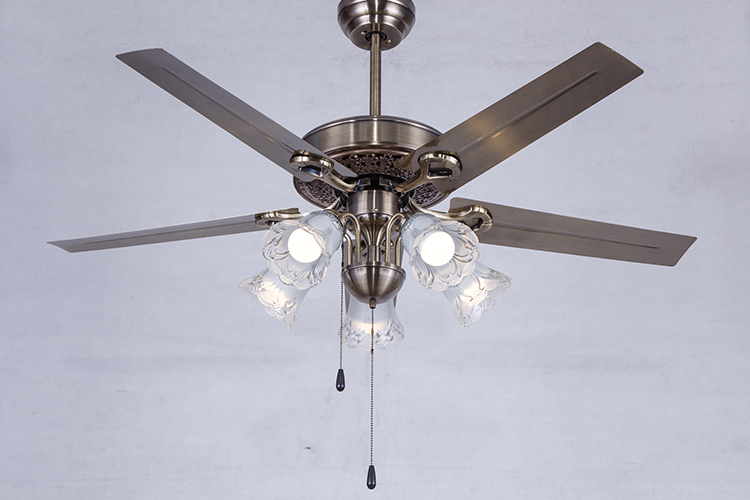 Jiangmen factory High-ranking wooden blades ceiling fan lamp