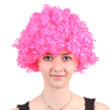 wholesale promotional large Afro kinky curly hair wig football Sports Fan Crazy Party fireproof Synthetic Afro Wigs for world