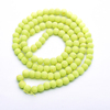 Fashion Matte Yellow Stone Beads For Jewelry making Accessories
