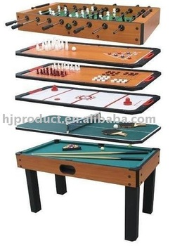 Beautiful Wholesale High Quality 6 In 1 Multi Games Table For Kids
