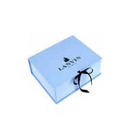 Hot selling 2018 luxury custom folding closure rigid promotion paper packaging with ribbon eyelash chocolate magnetic gift Box