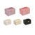 Pink leather jewellery case organizer drawer jewelry storage packaging box with mirror