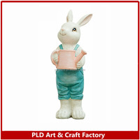 animal bobble head rabbit bobble head figurine Bunny dolls for Easter