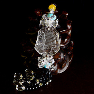 High quality crystal ornaments pendants with two styles for car and sweater