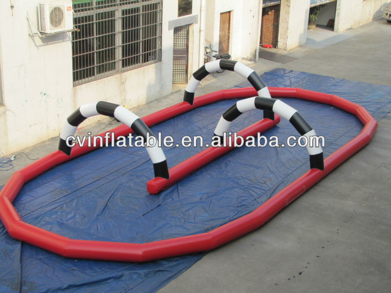 new arrival inflatable race track with rc car,inflatable sport amusement