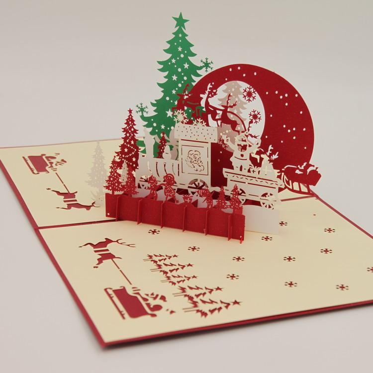 3 д открытка новогодняя, открытка