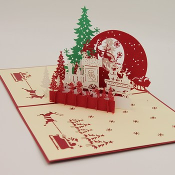 Kirigami 3d Christmas Card Invitation And Greeting Card Buy 3d Christmas Card Greeting Card Invitation Card Product On Alibaba Com