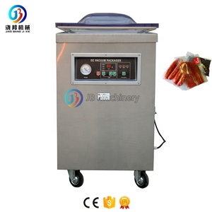 JB-400D Fish Dry Fruit Cheese Food Vegetable Clothes Single Double Chamber Thermoforming Automatic Vacuum Packing Machine