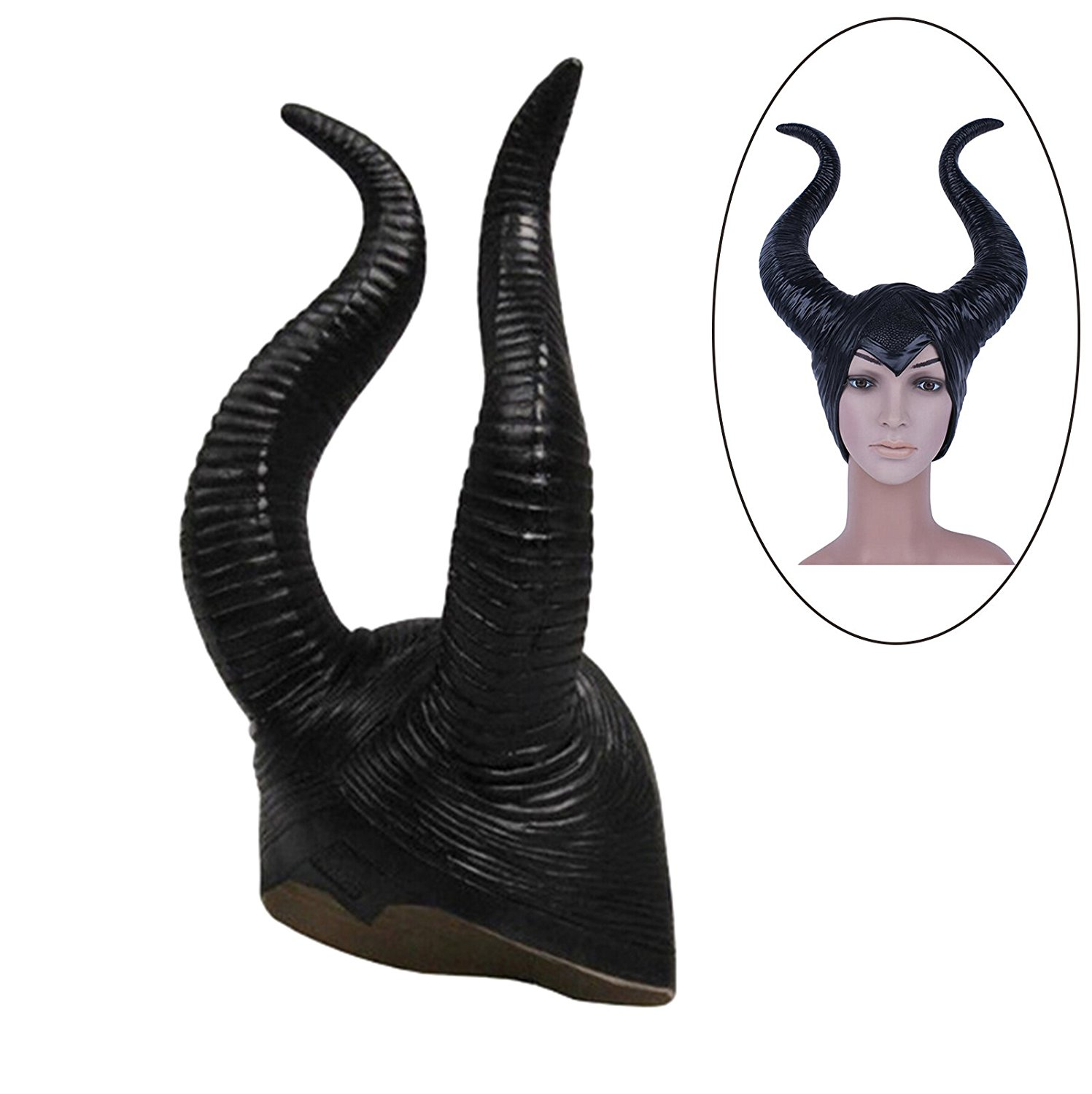 5e0bcb24754 Get Quotations · GZQ Maleficent Hat Horns Evil Queen Headpiece Cosplay  Headwear Costume Headband for Halloween Party