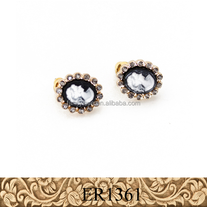 Fancylove Jewelry high quality crystal earring fashion Cameo head earring