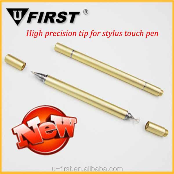 2016 Universal Capacitive Touch Screen Stylus Pen With 360 Degree Rotation Visual Transparent Disc Replaceable Drawing Stylus