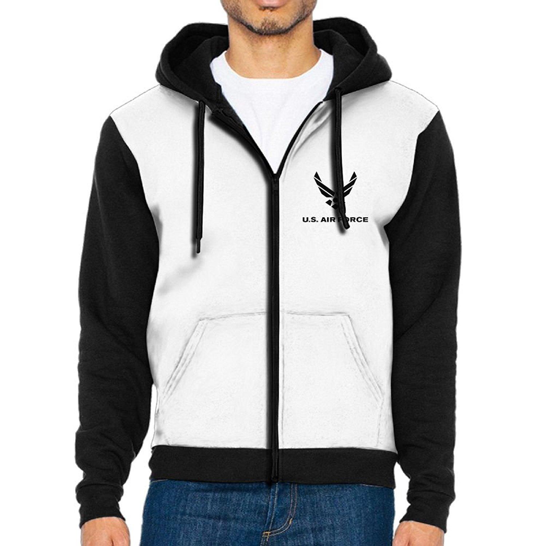 7a9dbe96d Get Quotations · Alility Hoodie Air Force Symbol Zip Up Raglan Hoodie  Graphic Plain Raglan Fleece Hoodie With Pocket