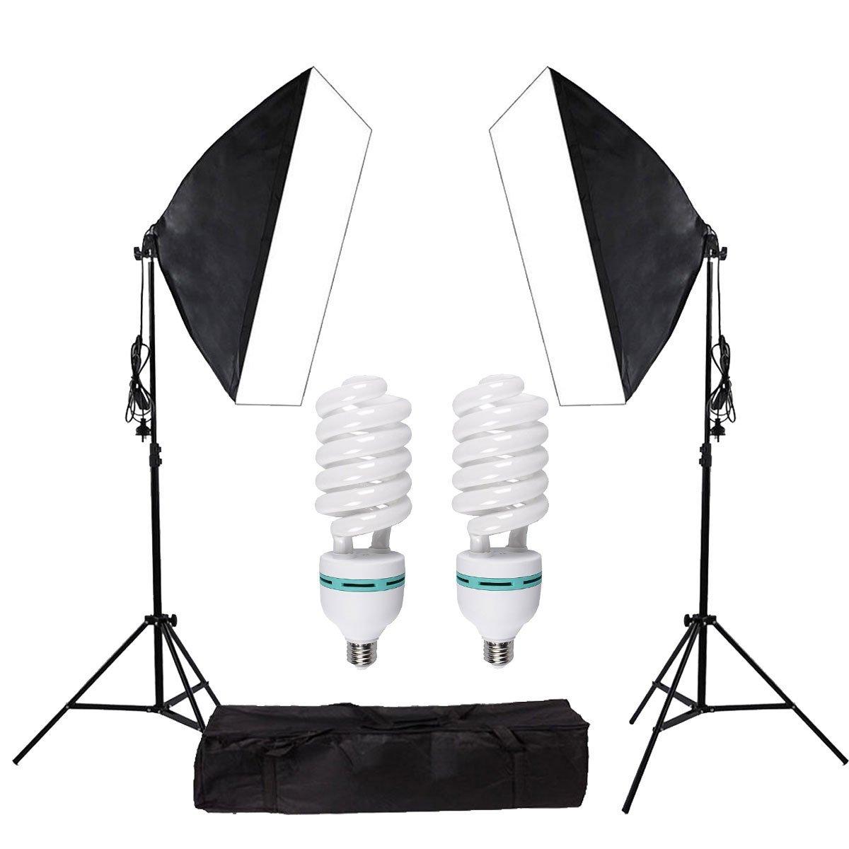 "YISITONG 1350W Photography Softbox Soft box Light Lighting Kit Photo Equipment Soft Studio Light Softbox 20""X28""/ 50x70 cm"