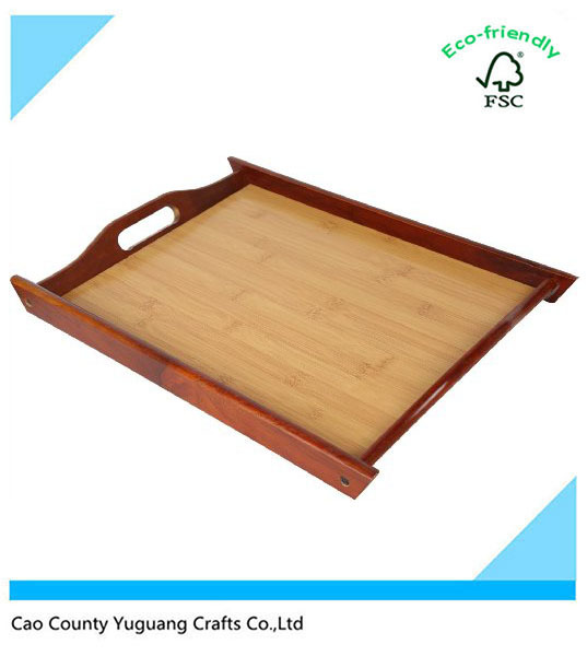Handcraft eco-friendly antique Serving Tray - Serving Tray with Handles wooden plate